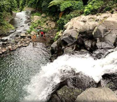 Jumping Off Kembar Waterfall in Secret North Bali