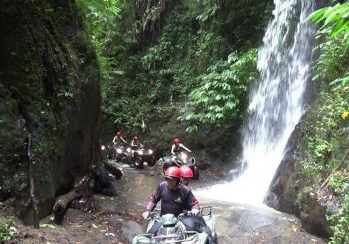 The Challenging Quad Bike Adventure in Bali Waterfall (Detail)