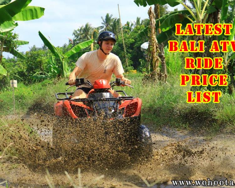 Latest Bali Atv Ride Price List