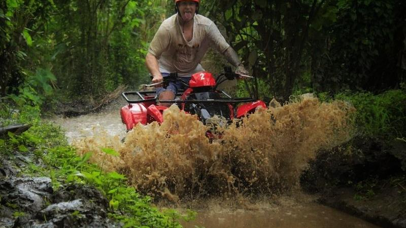 Bali Single Quad Bike and Tubing Tour