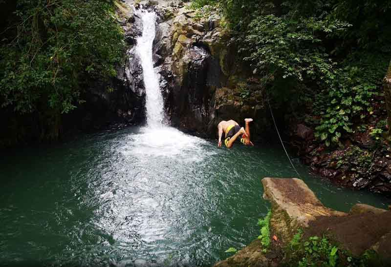 Try a Few Thrilling Jumps in Bali Aling-aling Waterfall