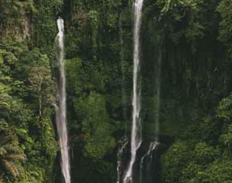 50 meters waterfalls in Sekumpul