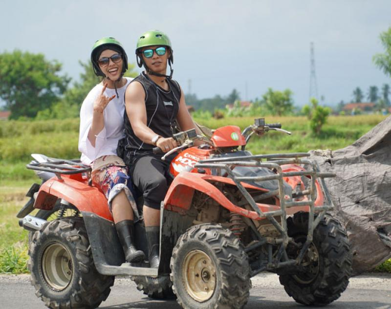 Quad Bike Riding in Rice Field