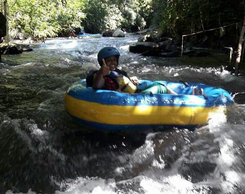 Adventure of Tubing along Bali River