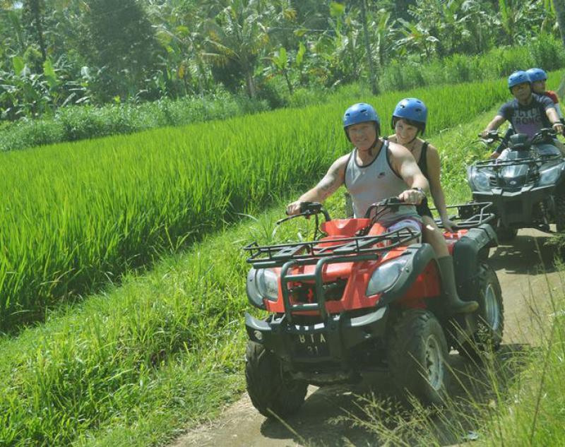 Bali Atv Adventure along rice paddies track