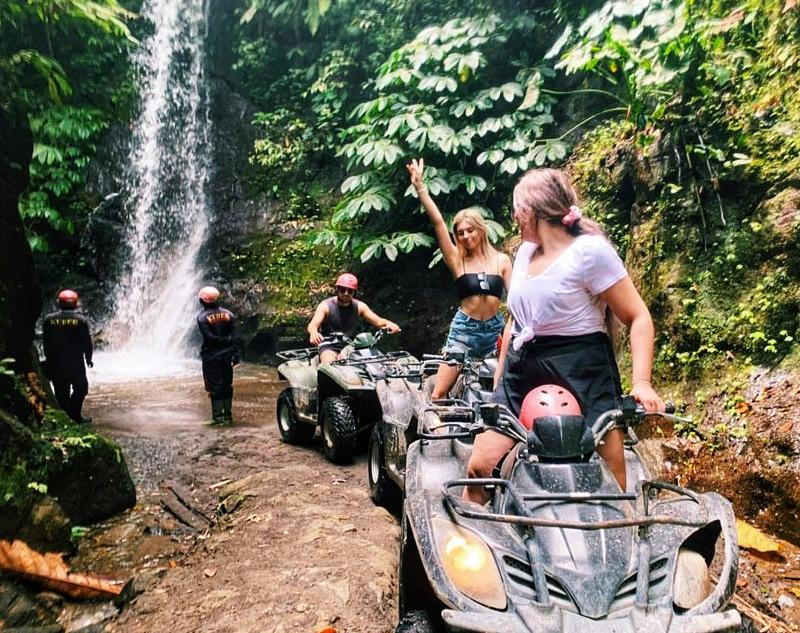 Bali Riding Atv in Waterfall