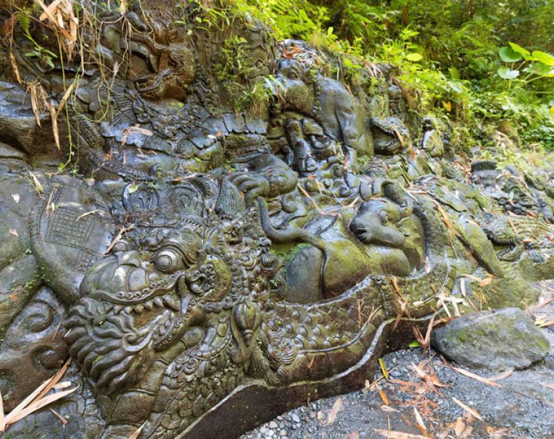 Stone Carving at Ayung River Ubud