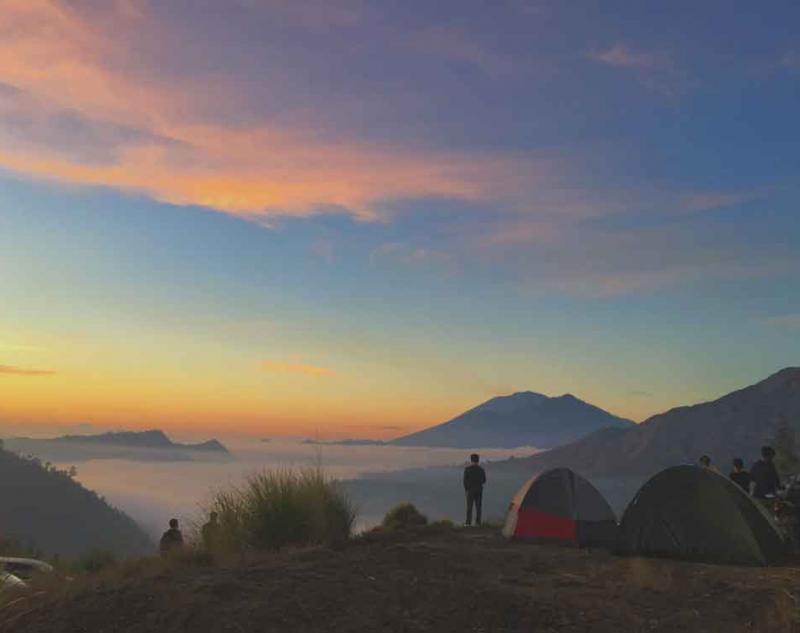 Trekking to Batur Mount