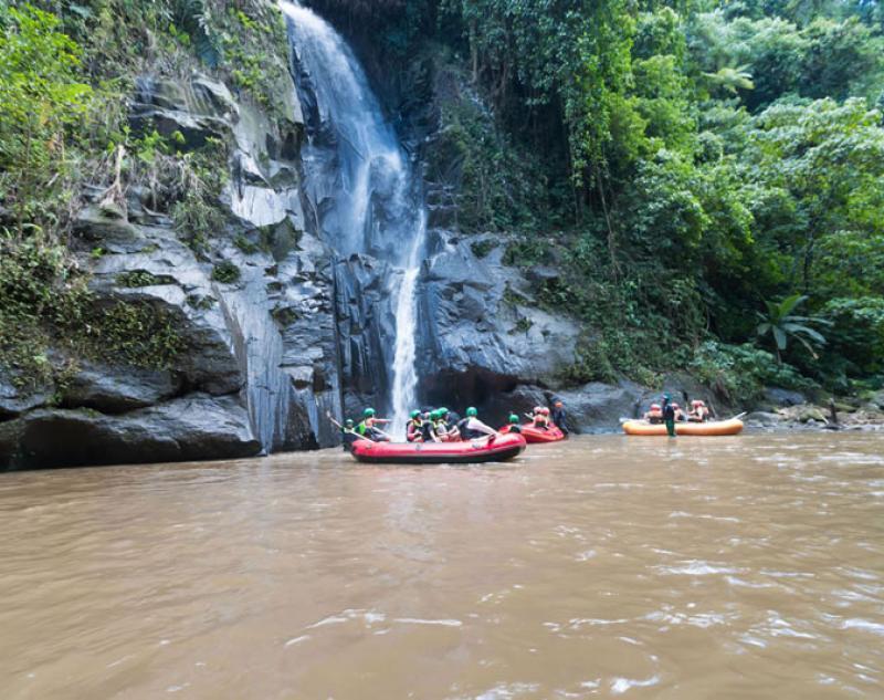 Waterfall at Ayung River Spot