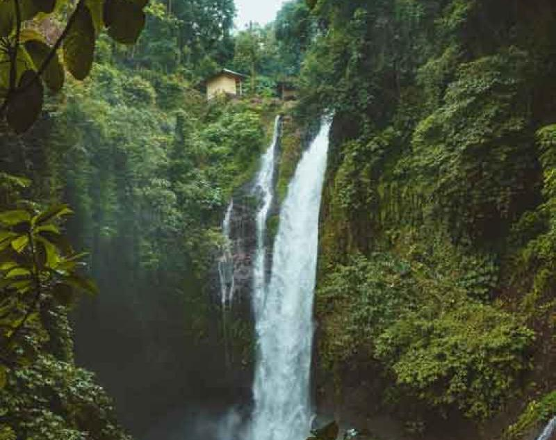 Location of Aling Aling Waterfall