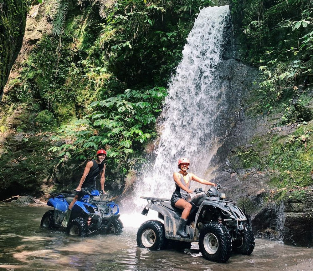 Bali ATV Adventure in the Waterfall