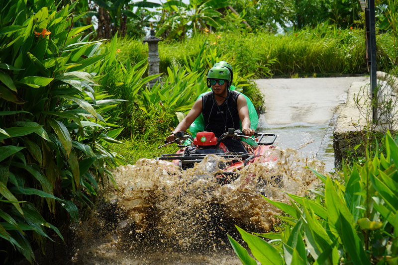 Bali ATV Riding in Green Forest
