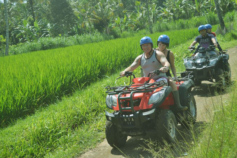 Bali Atv Adventure along rice paddies track