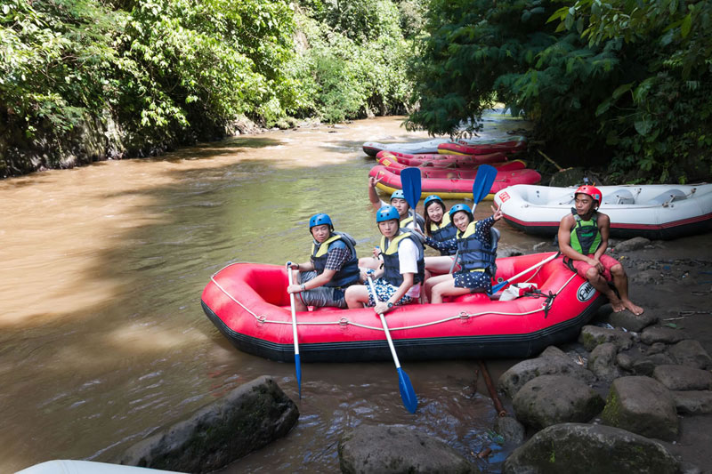 Bali White Water Rafting River