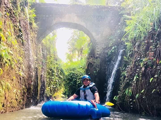 Beautiful Route of Bali Tubing Tour