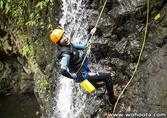 Canyoning at Gitgit Waterfall North Bali