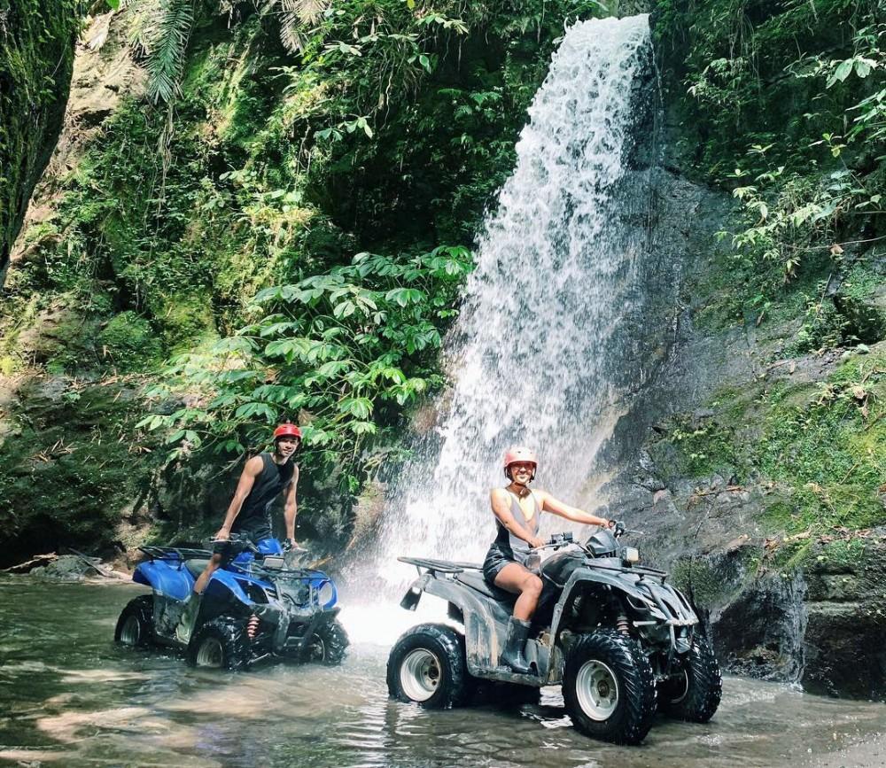 Quad Bike Adventure at Bali Waterfall