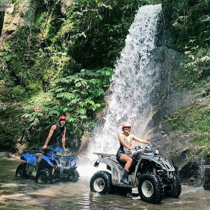 Quad Bike Riding at Bali Waterfall