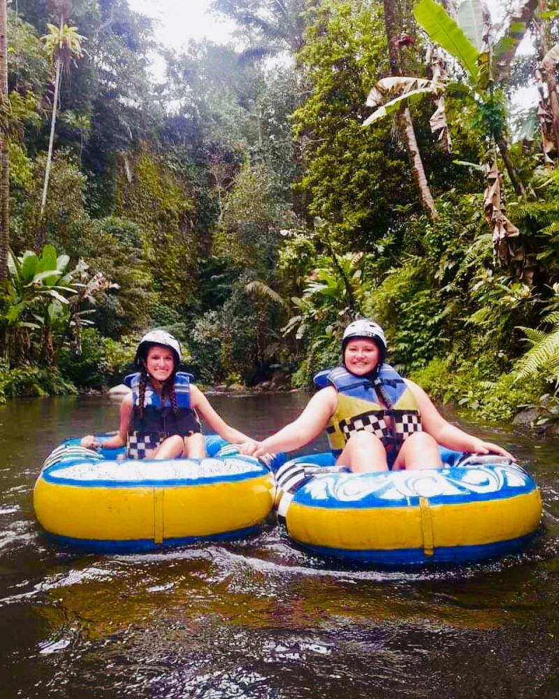 River Tubing in Bali Wilderness