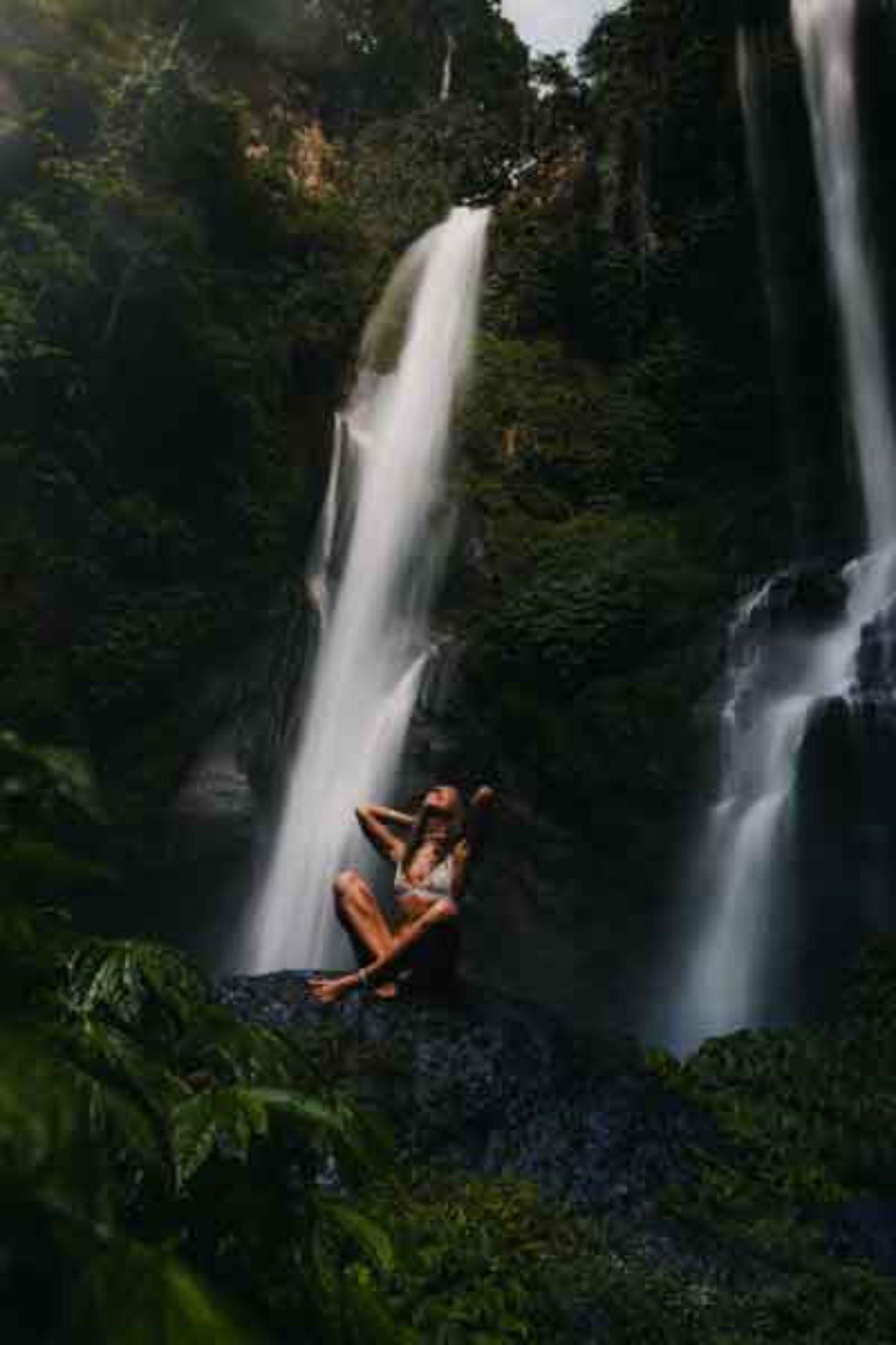 Sekumpul Waterfall with Green Nature